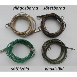 Viaszolt szálas nyaklánc alap - rhodium színű zárral (1 db)