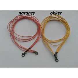 Viaszolt szálas nyaklánc alap - sárgaréz színű zárral (1 db)