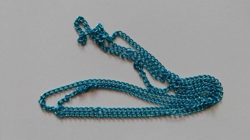 Ékszerlánc - 1méter / darab - kék - szem méret: 3x4,6mm