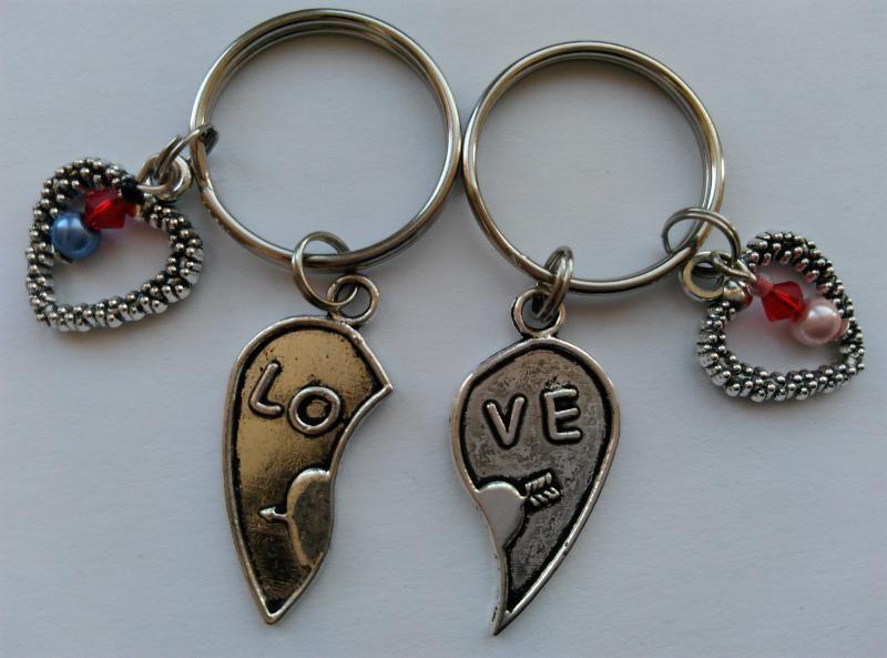 Kulcstartó szett - LOVE - szív