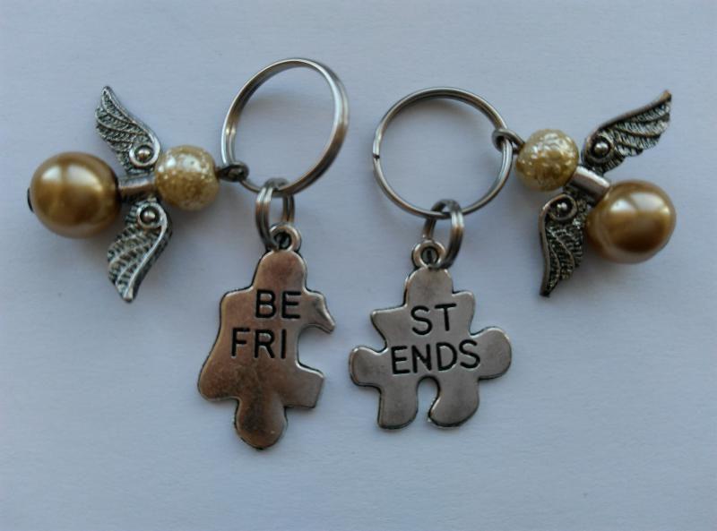 Mini kulcstartó, táskadísz szett - Best Friends - angyalka
