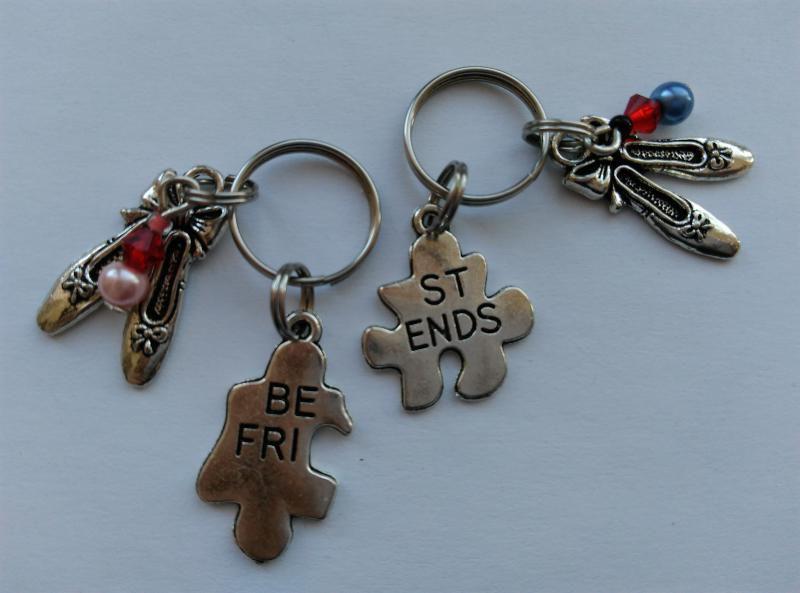Mini kulcstartó, táskadísz szett - Best Friends - balerinacipő