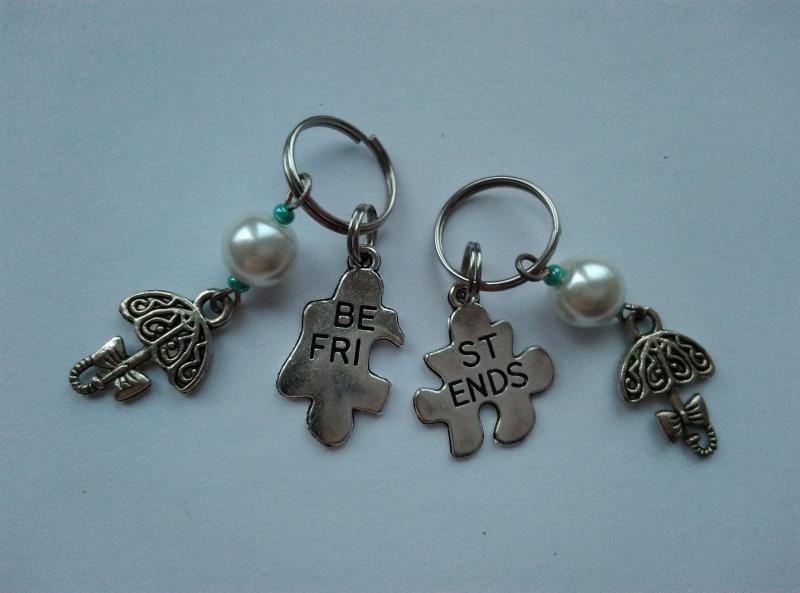 Mini kulcstartó, táskadísz szett - Best Friends - esernyő