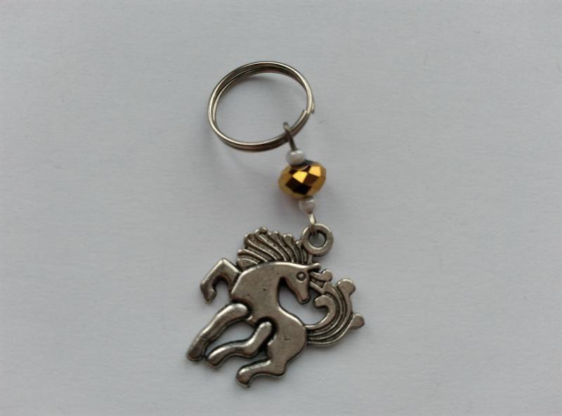 Mini kulcstartó, táskadísz - ló