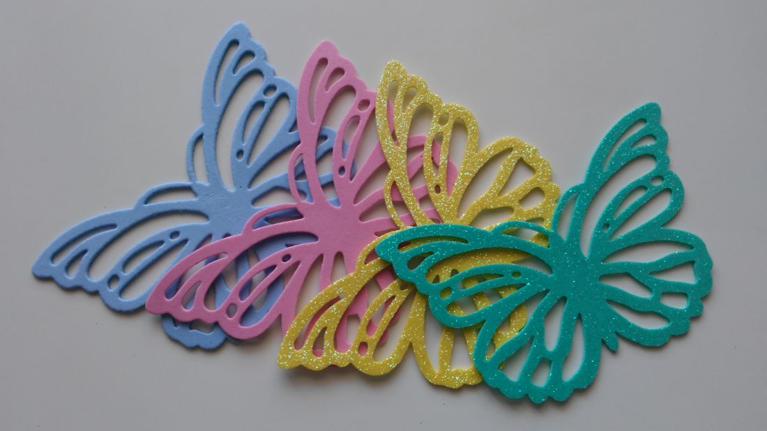Dekorgumi pillangó - 150 x 100 mm (6 db / csomag)