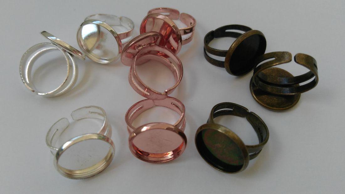Ragasztható gyerekgyűrű alap - 12mm-es lencséhez (1 db)